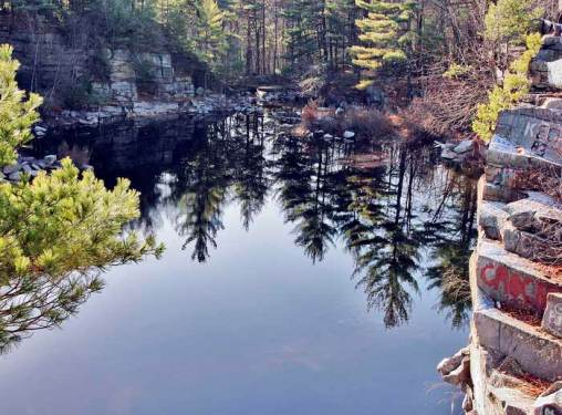 Graniteville Woods Quarry Reflection