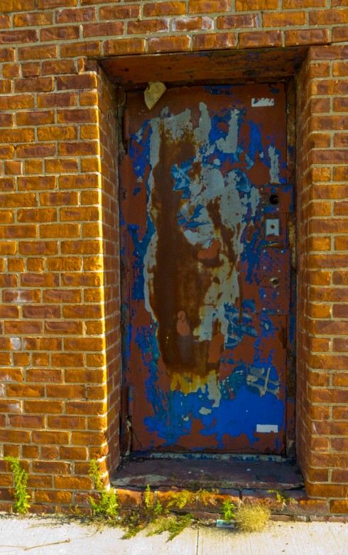 A doorway in Sunset Park, down by the docks.